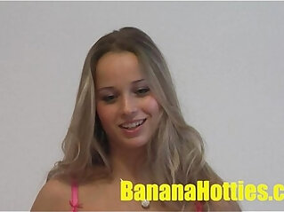 Slutty teens suck, fuck and get cummed on at first casting!