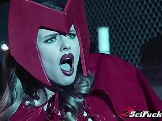 Captain America saves Scarlet Bitch fucks her in reward at bitch niche