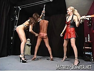 Triple terror from mistresses on one male slave