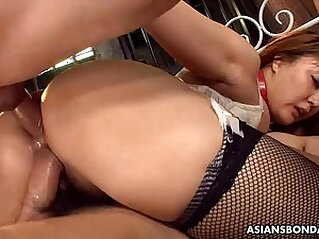 Big boobs and ass Asian sex slave made to fuck and suck at japanese niche