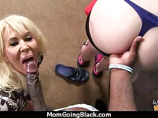Sexy mom gets creamy facial after getting her pussy pounded by a black dude