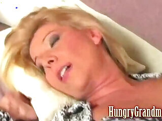 Granny gets fucked by younger dude