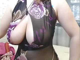 Big tits woman handjob hardcore