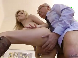 Sasha Rose Anal cum old man