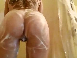 Hairy Tattooed Teen Hottie In The Shower