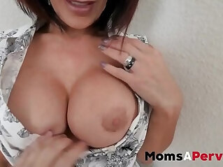 MomsAperv Mom takes care of son in special therapy session