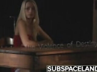 BDSM Bondage Teen punished and spanking in fetish candle wax porn video