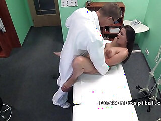 Doctor assists with big dick fucks cute patient