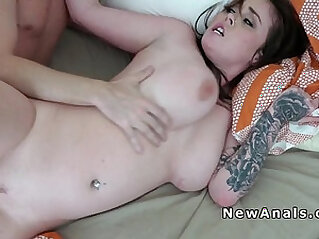 Homemade sex ends up with anal fuck