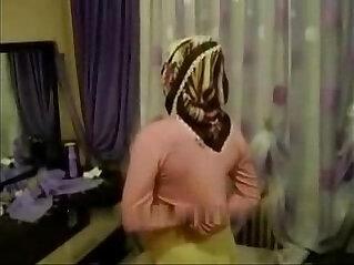 Arab girl gets fucked hard with hijab turban being masturbated