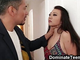 Asian Teen Gets fucked Rough Punishment!