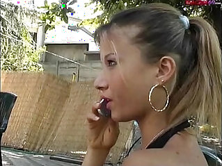 streptease the Italian porn star fucked by two males