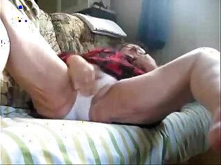 My granny still loves to masturbate. Hidden cam