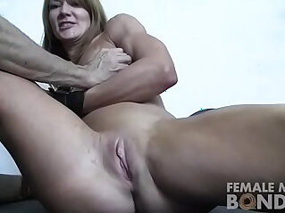 Female Muscle Bondage Redhead in the Gym