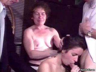 Hairy granny takes anal fucking