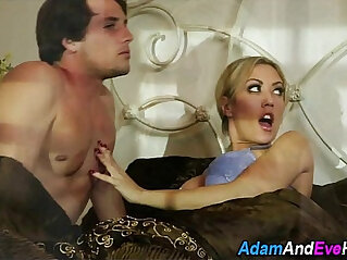 Busty wife gets throat fucked