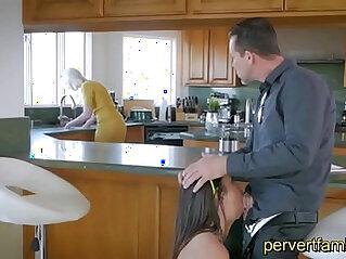 Pervertfamily Horny StepDaughter sucks Daddy next to Mom