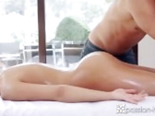 Passion HD Brunette with great ass Anna Rose gets more than a rub down