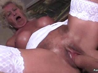 Granny screams while getting fucked hard
