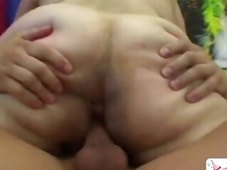 BBW gets to play with monster dick