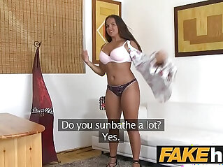 Fake Agent Natural chubby tanned cute teen amateur porn casting at natural niche