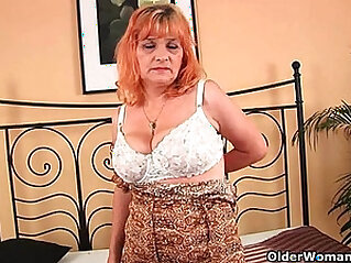 Granny with big tits sucks cock gets pussy fucked hard