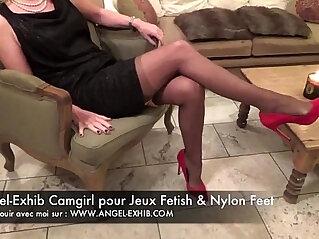 Fetish nylon pieds jambes et bas avec milf francaise en privee avec toi