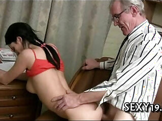 Old tutor gets dong loving action