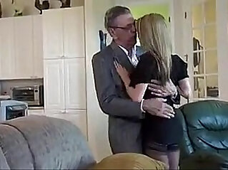 old man with her young amateur girl