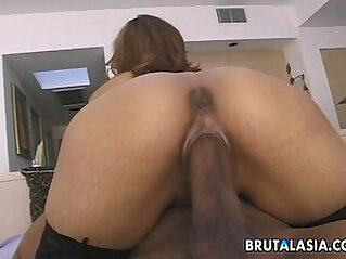 Adorable Japanese tart loves steamy anal sex
